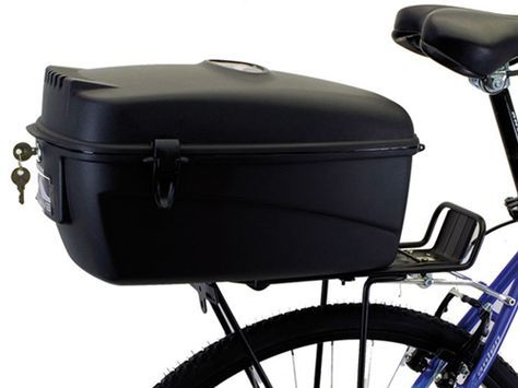 Lockable Bike Trunk Case With Images Commuter Bike Accessories