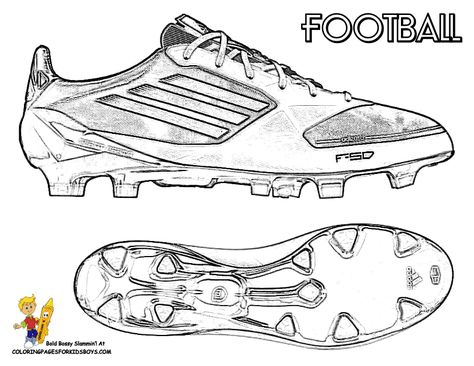 Football Pictures To Color In Of Shoe Football Coloring Pages