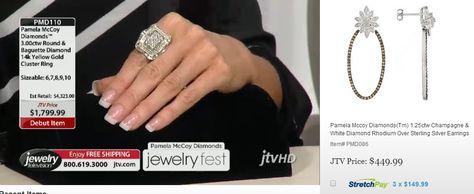 Pamela Mccoy Diamonds(Tm) 3.00ctw Round  Baguette Diamond 14k Yellow Gold Cluster Ring