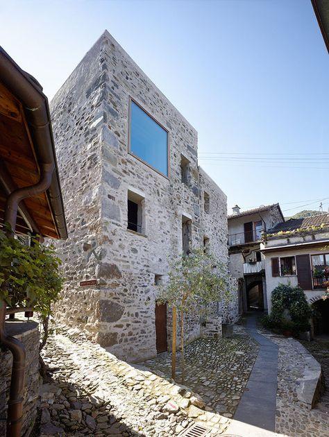 umbau steinhaus im dorfkern von scaiano | ecola | rehabilitación, Innedesign