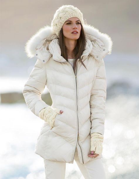 Down jacket with fur trim Madeleine U.K... | My Style ...