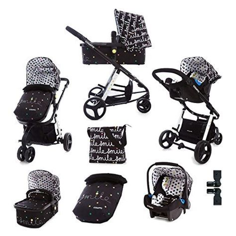 BABY PRAM MILA 3IN1 PUSHCHAIR CARRYCOT CAR SEAT A LOT OF COLORS