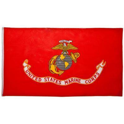 U S Marine Corp Flag 3ft X 5ft Polyester Imported Marine Flag Flag Military Flag