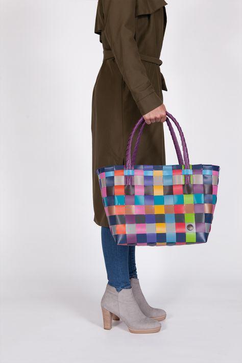 natural mix oder Strandtasche Shopper Paris S Handed By Einkaufs