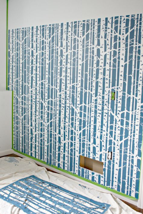 Using a tree stencil for the wall