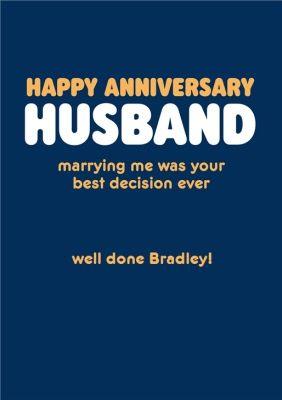 Happy Anniversary Husband Humour Quote Anniversary Card Sponsored Ad Husband Anniversary Husband Quotes Funny Happy Anniversary Husband Husband Humor