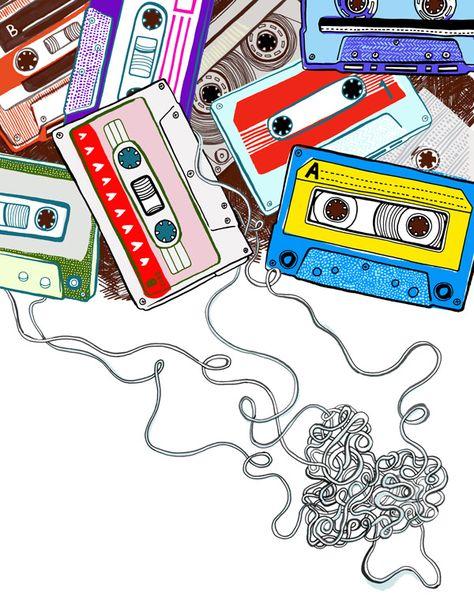 love is a mix tape. #musicart #cassette http://www.pinterest.com/TheHitman14/music-drawn-%2B/