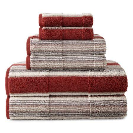 Jcpenney Home Farmhouse Stripe Bath Towels Striped Bath Towels