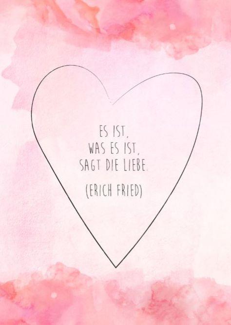 Karte zum Downloaden mit einem Zitat von Erich Fried über die Liebe