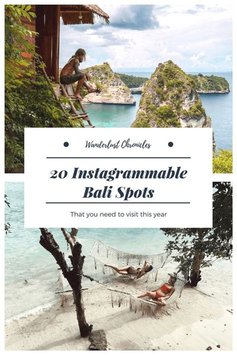 The 20 best places to take Bali Instagram photos this year. Instagrammable Bali cafes, beaches, tourist locations, and natural landmarks.