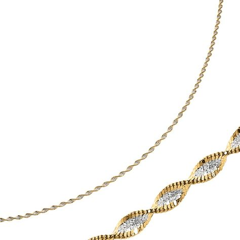 Sonia Jewels White and Yellow Over Brass 1.00mm 2 Color Plated Snake Chain Necklace