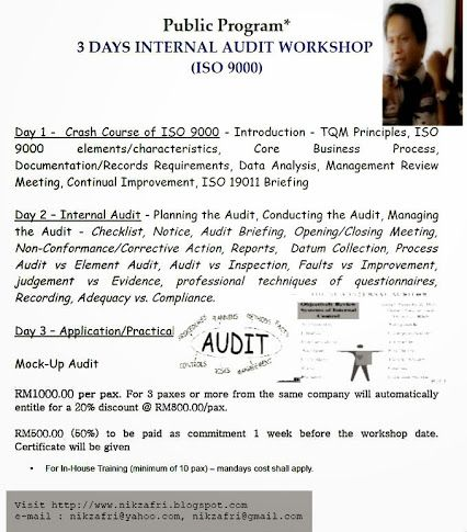 Workshop  Internal Quality Audit    Abdul Majid