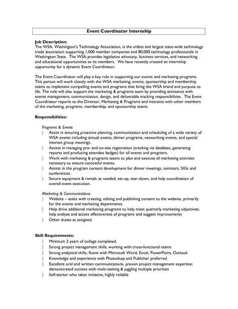 Marketing event coordinator cover letter Events manager cover