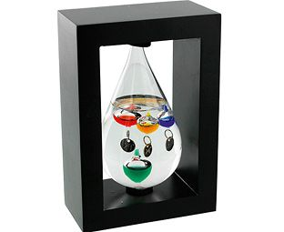 Celebrate the wonders of science with this beautiful-looking thermometer. A lovely interpretation of the 16th-century Galileo thermometer, it takes the form of