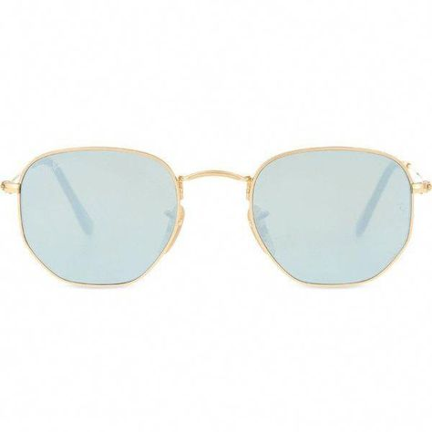 21eeabecdd8 RAY-BAN RB3548 hexagonal-frame sunglasses ( 185) ❤ liked on Polyvore  featuring