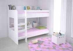 Polini Kids Hochbett Jugendbett Kinderbett Etagenbett 5000 Weiss
