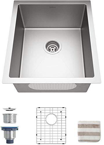 Torva Undermount Kitchen Sink Stainless Steel Single Bowl 16 Gauge Kitchen Sink Deep In 2021 Sink Stainless Steel Kitchen Sink Undermount Stainless Steel Kitchen Sink 16 gauge undermount stainless steel sink