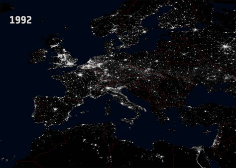 Turn The Lights Off Gif Pinterest - Beautiful video imagines cities without light pollution