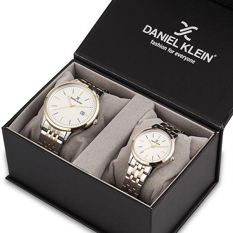 cele mai recente previzualizare a pret de fabrica Set ceasuri pentru dama si barbati, pereche Daniel Klein, DK11789-6P