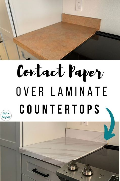 Yes, you can cover your laminate kitchen countertops with contact paper! Here's a tutorial on this cheap and easy DIY project. Cheap Kitchen Floor, Cheap Kitchen Countertops, Painting Kitchen Countertops, Countertop Redo, Chalk Paint Kitchen, Resin Countertops, Laminate Countertops, Diy Contact Paper Countertops, Diy Kitchen
