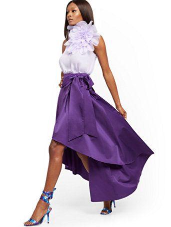 Purple Hi Lo Maxi Skirt 7th Avenue New York Company Maxi Skirt Ball Gown Skirt Skirts