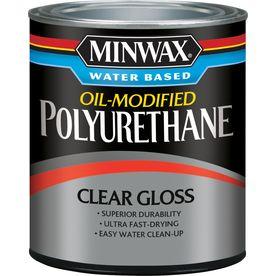 Minwax Oil Modified Gloss Oil Modified 32 Fl Oz Polyurethane 630150444 Minwax How To Apply Polyurethane Polyurethane