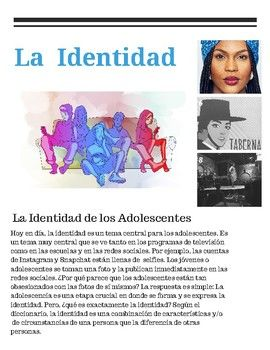 Spanish Unit Level 3 Ap Identity Culture 25 Differentiated