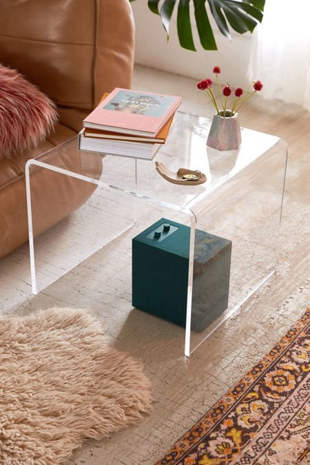 Miotto Acrylic Curve Side Table Acrylic Side Table Coffee Table
