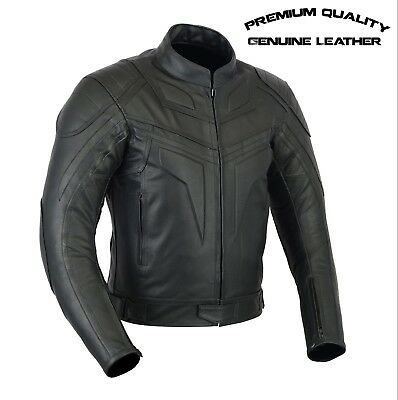 NEW MENS BRANDO MOTORCYCLE CE ARMOUR LEATHER JACKET TOP QUALITY size S 10X