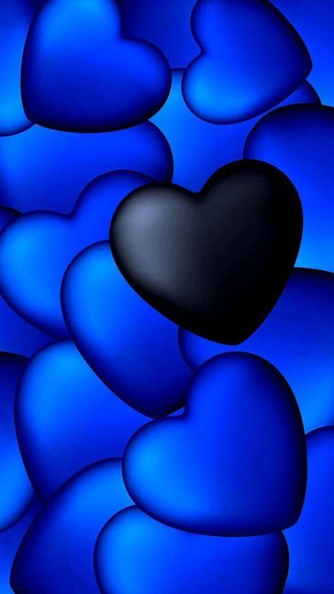 60 Ideas Wall Paper Azul Marino Tumblr In 2021 Heart Wallpaper Heart Iphone Wallpaper Blue Heart Black and blue heart wallpaper