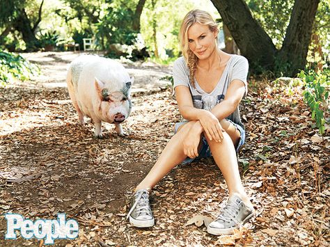 "Daryl Hannah dropped herself off the A-list, focused on environmental activism and retreated to a rural spread near Los Angeles. Now the 52-year-old drives a truck that runs on French fry grease, dotes on her rescue pig Molly. But Hannah, who was diagnosed with autism as a child and suffered from ""debilitating shyness"" as a result of the disorder, says the best thing in her life now is growing comfortable in her own skin."