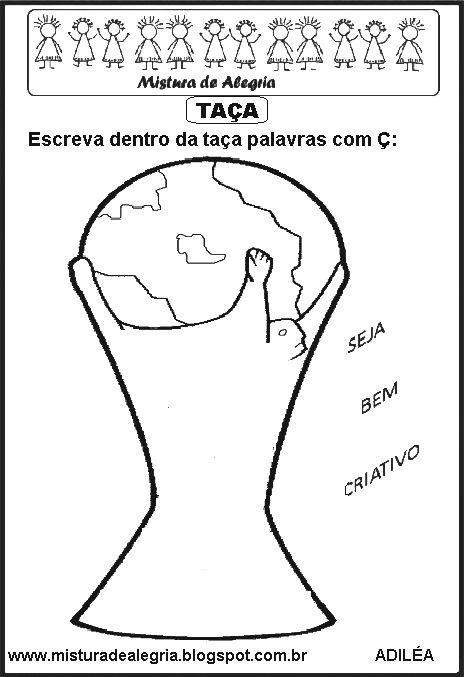 Copa Do Mundo Ta C3 A7a Escrever Palavras C3 A7 Imprimir Colorir