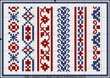 Free Easy Cross, Pattern Maker, PCStitch Charts + Free Historic Old Pattern Books: PCStitch http://patternmakercharts.blogspot.com/search/label/PCStitch#
