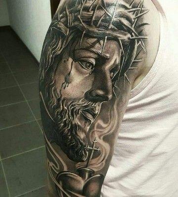 Retratos Y Diseños De Tatuajes De Jesus De Nazaret Tatuaje De Jesús Jesus De Nazaret Tatuaje De Cristo