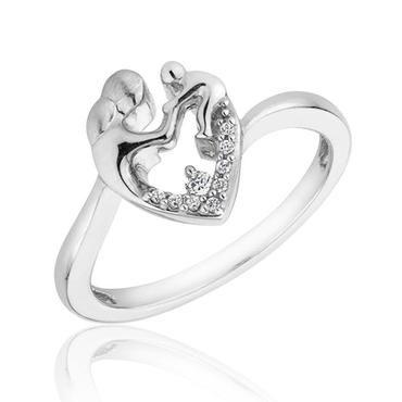 Mother's Heart Diamond Ring 1/20ctw - Item 19314707 | REEDS Jewelers
