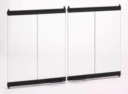 Bdb36 36 Bi Fold Glass Doors For Wood Burning Fireplace Bdb36b Fireplace Doors Bifold Doors Fireplace Accessories