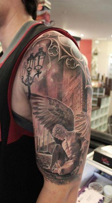 Espirituales Y Simbolicos Tatuajes De Angeles En El Brazo Tatuaje De Angel Tatuajes De Moda Tatuaje En La Espalda