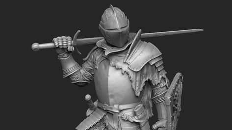 """""""knight"""", Laslo Forgach on ArtStation at https://www.artstation.com/artwork/8Z1Bx"""