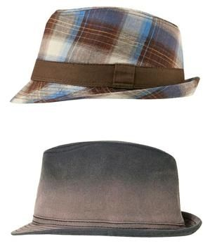 Sombrero Fedora Safari de algod/ón de Crambes Gris