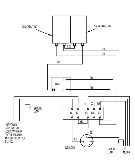 220 Volt Run Capacitor Wiring Diagram