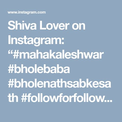 followforfollow Shiva Lover on Instagram:...