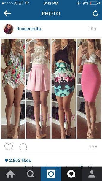 skirt pink skirt white and pink dress dress