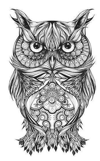 Gregor the Owl by Greg Coulton, via Behance Zentangle & Doodling / Зентангл и Дудлинг