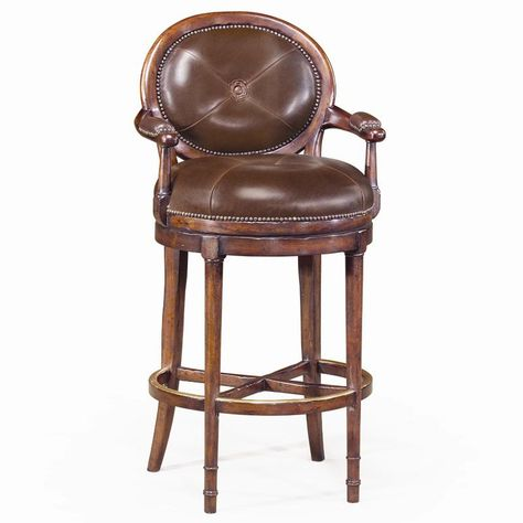 Awe Inspiring Seating Leather Oval Back Barolo Bar Chair By Theodore Short Links Chair Design For Home Short Linksinfo