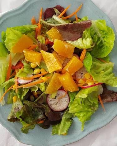 Resep Fresh Salad With Orange Dressing Oleh Sukma Lestari Resep Sayuran Salad Resep