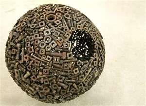 Scrap Metal Planets sculpture art
