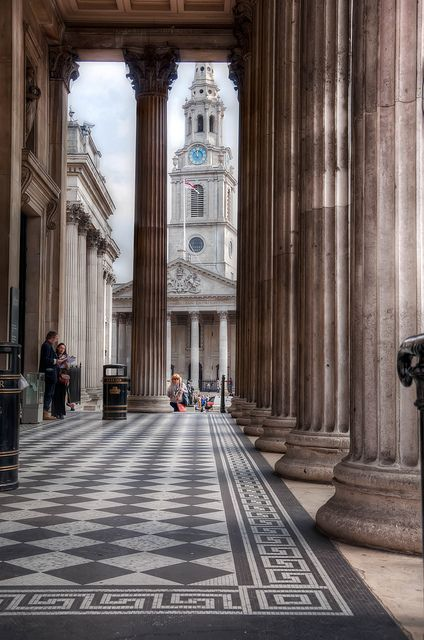 St.Martin in the Fields, London, I have had lunch in the Crypt Cafe here many times!  Listened to Vilvaldi's Four Seasons there too.