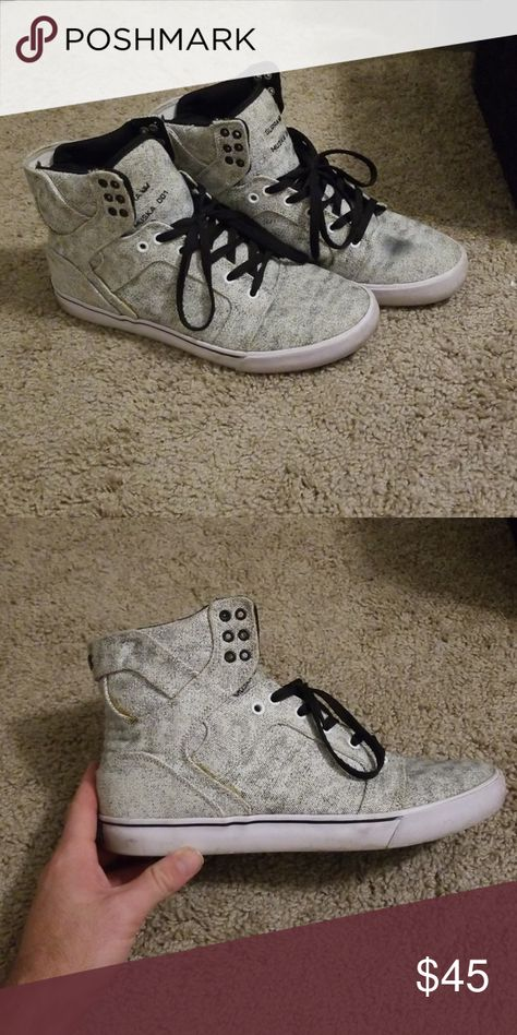 9868f28248a0 white muska 001 supras decent condition. couple marks Supra Shoes Sneakers