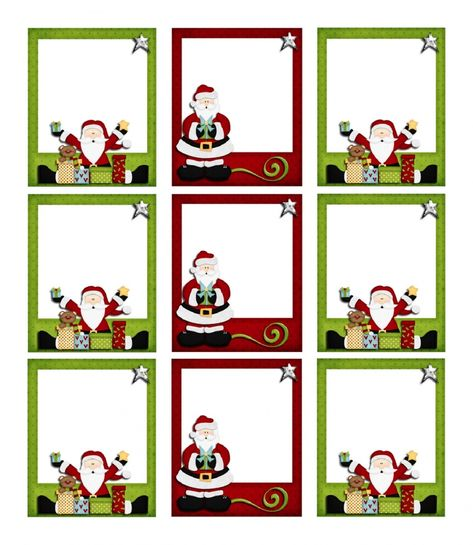 Etiquettes Noël à imprimer pour cadeaux de Noël