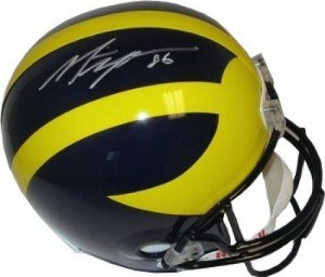 Desmond Howard Autographed//Signed Michigan Wolverines Full Size NCAA Helmet with Heisman 91 Inscription